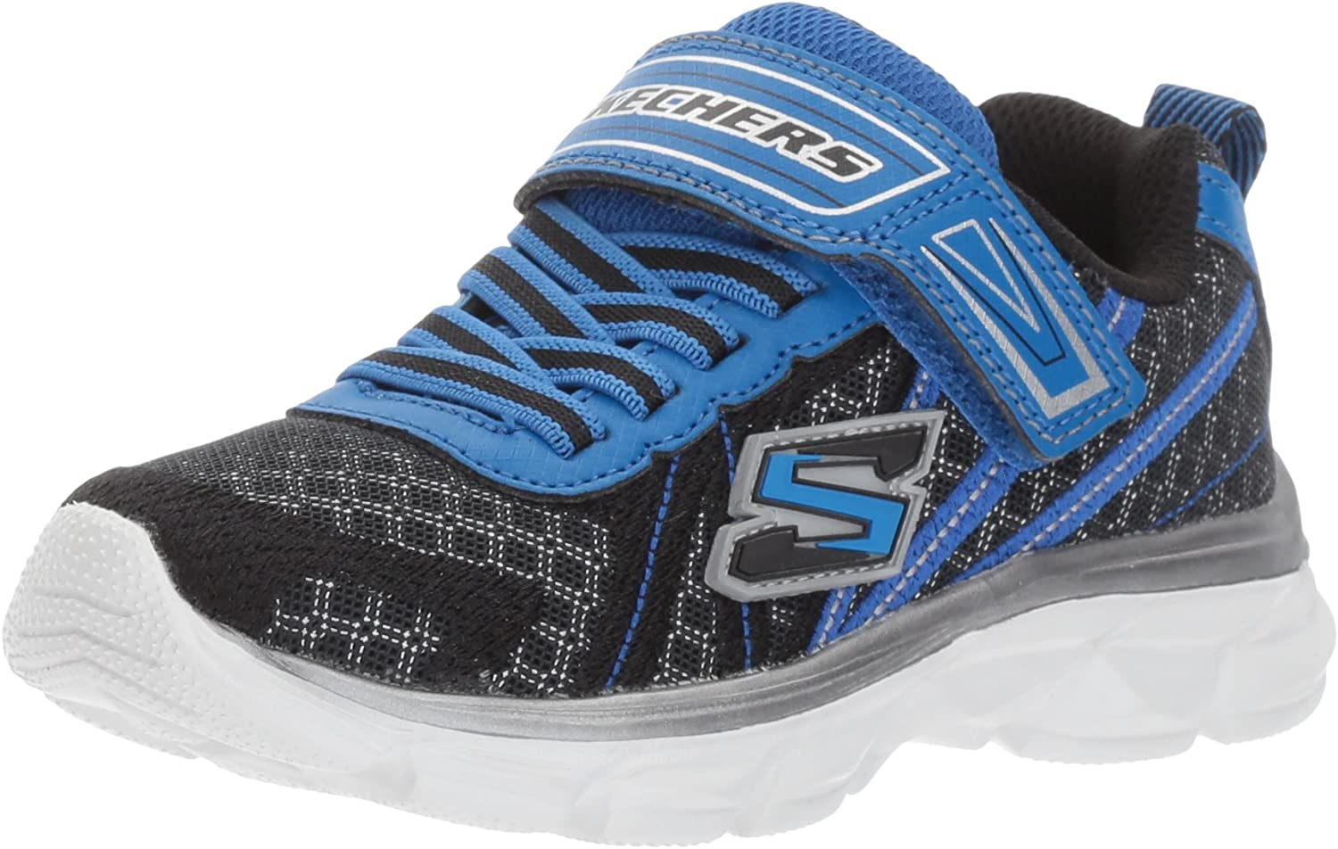 Skechers Kids Boys' Advance-Hyper Tread Turnschuhe, schwarz ROYAL, 13 M US Little Kid