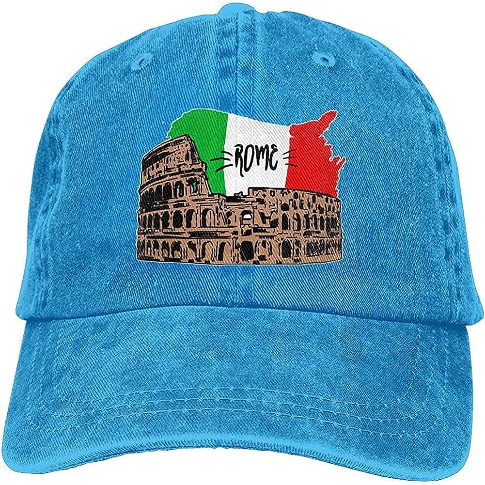 Classic Gorgeous Denim Cap Italy Rome Colosseum Cotton Adjustable Retro Cowboy Hat Unisex Baseball Cap Trucker Hat