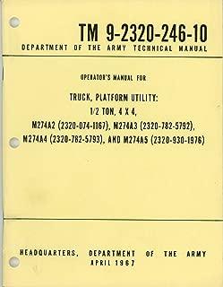 TM 9-2320-246-10: Operators Manual for M274A2, A3, A4 & A5 Mechanical Mule