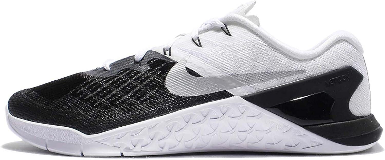 Nike Mens Metcon 3 shoes Black White Silver 005 Size 14