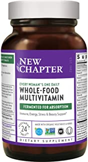 New Chapter Women's Multivitamin + Immune Support – Every Woman's One Daily, Fermented with Whole Foods & Probiotics + Iro...