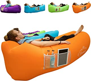 Utebebe Inflatable Lounger Air Sofa Blow Up Couch Chair Outdoor Lazy Sofa Air Lounger Inflatable Lazy Bag Air Hammock Portable-Couch for Beach Traveling Camping Park Picnics & Music Festivals
