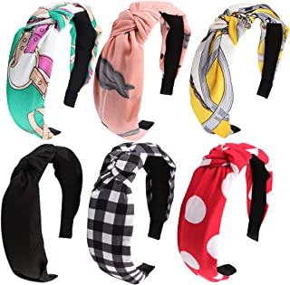 Cute Knot Headbands for Women, Hapdoo Women Fabric Hairbands, Girls Headbands Bohemia Style, Elastic Wide Headbands Non sl...