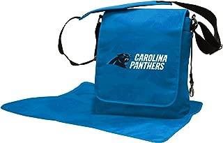 NFL Carolina Panthers Messenger Diaper Bag, 13.25 x 12.25 x 5.75-Inch, Black