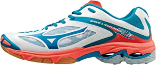 MIZUNO V1GC170074 Wave Lightning Men's Volleyball Shoes, 6.5 UK, White/Blue