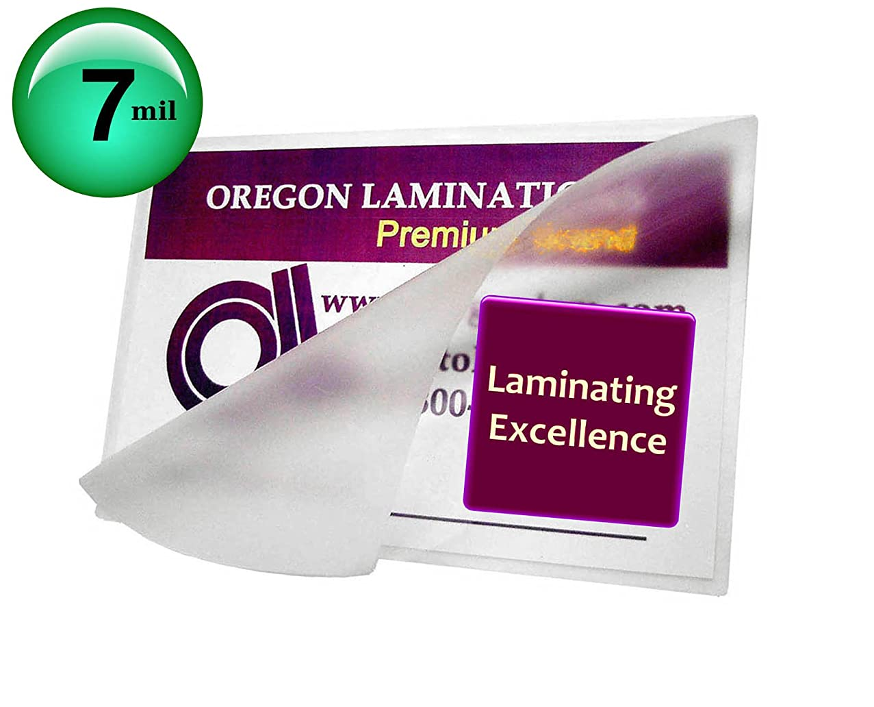 Qty 500 7 Mil Jumbo Card Laminating Pouches 2-15/16 x 4-1/8 Hot Laminator Sleeves