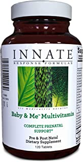 INNATE Response Formulas, Baby & Me Multivitamin, Prenatal and Postnatal Vitamin, Vegetarian, Non-GMO, 120 tablets (60 servings)