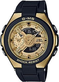 Casio Baby-G G-MS Black Gold Ladies Alarm Chronograph Watch MSG-