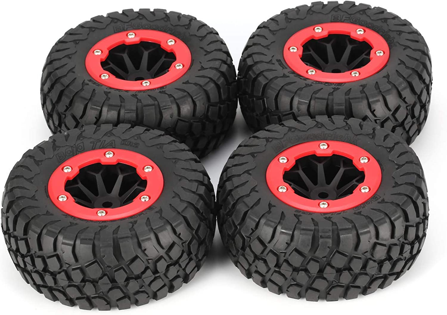 4Pcs AUSTAR AX4007 113mm Short Truck Tyre for 1 10 OffRoad Truck Crawler Racing RC Car Model Spare Parts Accessories