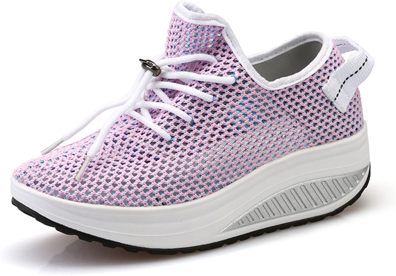 Ezkrwxn Fashion Sneakers for Women Platform shoes Mesh Breathable Comfort Walking shoes