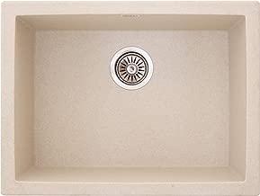 ZINZER Granite Quartz Acrylic Kitchen Sink (24 Inches, Granular Ivory)