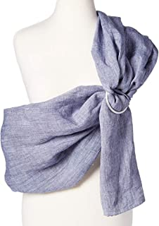 Baby Carrier Ring Sling by Hip Baby Wrap for Newborns, Infants and Toddlers (Blueberry) - Beautiful, 100% Linen - Perfect Baby Show Gift - Great for New mom and dad - Nursing Cover