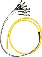 Ultra Spec Cables 6 Strand Singlemode 9/125 ST-UPC Fiber Pigtail, 1 Meter