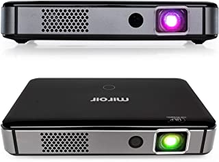 Miroir Smart HD Portable Mini Projector M300A, Surge Series, Android OS Native Apps Available, LED Lamp, Auto Focus, Built in Rechargeable Battery, HDMI Input Wireless Input