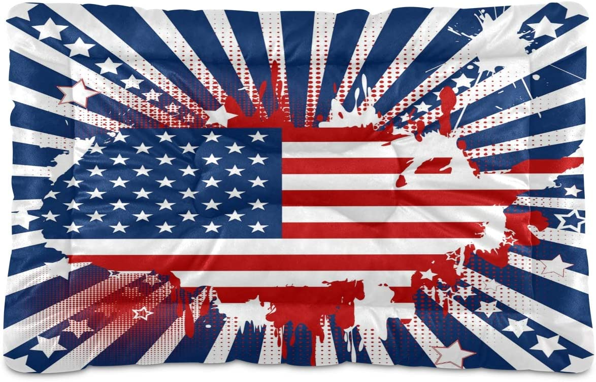 STAYTOP Vintage sold out American Flag Map Non-Slip Beds Pet Pe Complete Free Shipping Washable