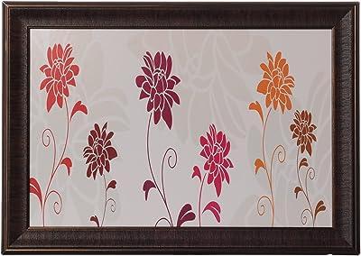 eCraftIndia 'Botanical Flowers' UV Art Painting (Synthetic Wood, 53 cm x 38 cm, Satin Matt Texture, FPGK921_A)