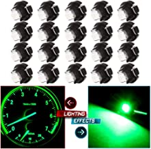 cciyu 20 Pack White 2835 SMD T3 Neo Wedge 1 LEDA/C Climate Control Lights New 8mm US Replacement fit for 1999-2010 Honda Accord/Odyssey (green)