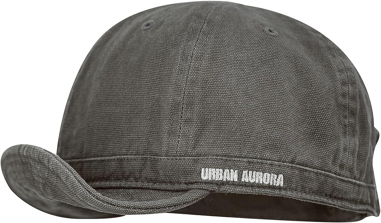 Croogo Cotton Trucker Hat Short Brim Mens Hat Low Profile Dad Hats Soft Short Brim Baseball Cap Flat Snapback Hats for Daily
