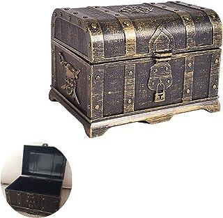 Coffre au Trésor Pirate en Plastique Boîte à Bijoux Ancienne Pirate Trésor Coffre au Trésor en Plastique Coffre au Trésor ...