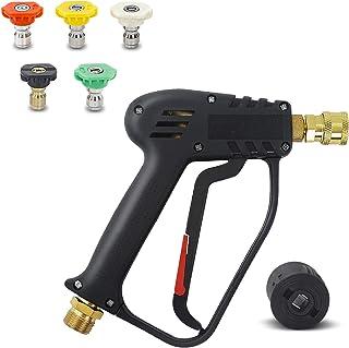 Fai Top 4 000 PSI högtryckstvätt med 5 vattenmunstycksspetsar, rengöringspistol biltvätt vattenpistol för bilrengöring (M2...