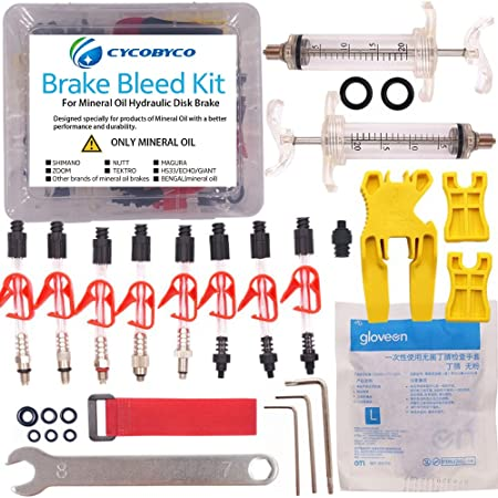 Bicycle Hydraulic Disc Brake Mineral Oil Bleed Kit Funnel Set Bike Tool PartODUS