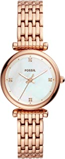 Fossil Carlie Mini Women's Mother of Pearl Dial Stainless Steel Watch - ES4429