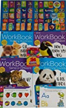 Pre-K Activity Workbooks Early Learning Bundle: Beginning Sounds, Same Or Different, Alphabet And Reading Readiness - 136 Motivational Stickers and 24 Count Box of Crayons