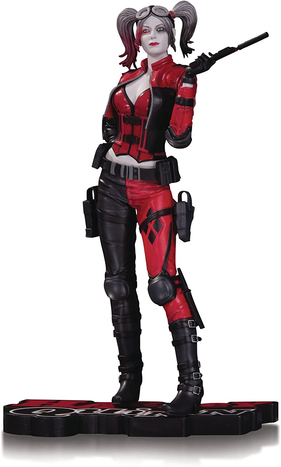 DC Comics OCT160338 Injustice 2 Harley Quinn Red White and Black Statue