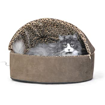 K&H Pet Products Thermo-Kitty Heated Pet Bed Deluxe Small Tan