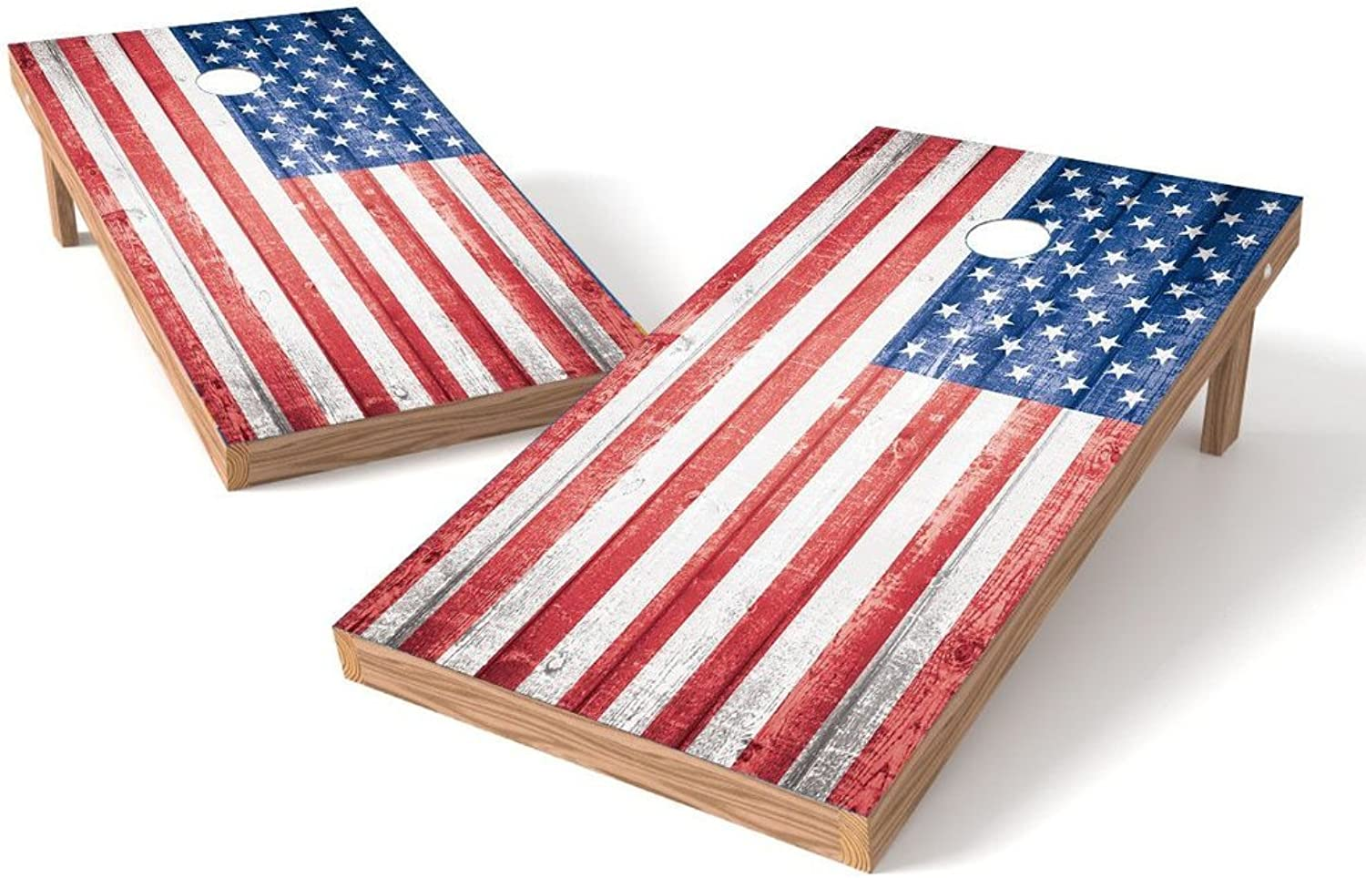 Proline USA Flag Cornhole Set with blueetooth Speakers