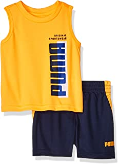 PUMA Baby-Boys 01195777TME-P815 Boys' T-Shirt & Short Set Shorts Set - Orange