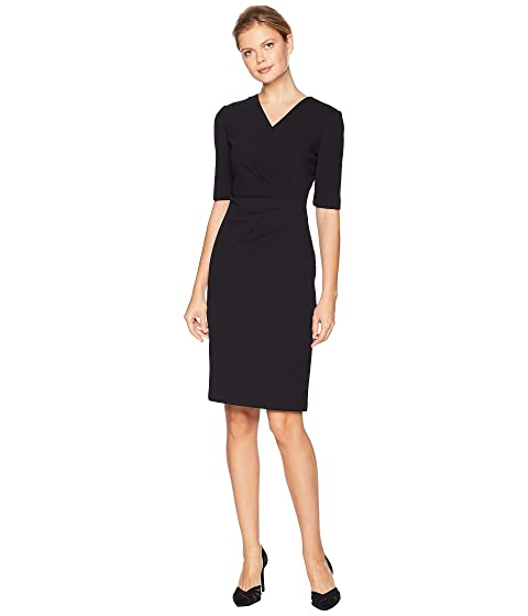 23a196bc8c754 Tahari by ASL Short Sleeve Crepe Dress with Side Pleat Detail at 6pm