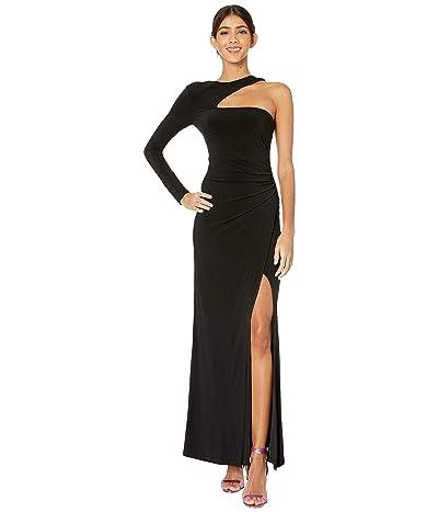 BCBGMAXAZRIA Knit Cutout Gown Dress (Black) Women