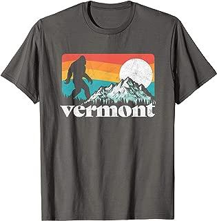 Vermont Pride Bigfoot Mountains Retro Nature Graphic T-Shirt
