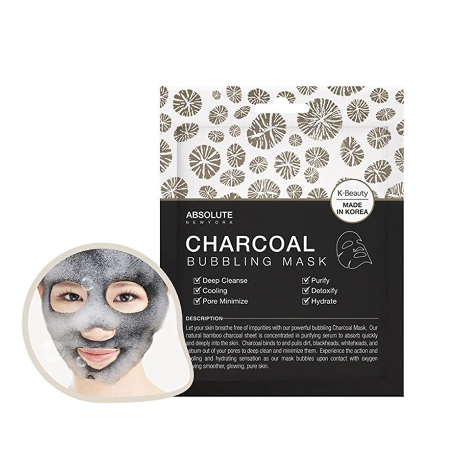 罰するペデスタル小麦(6 Pack) ABSOLUTE Charcoal Bubbling Mask (並行輸入品)