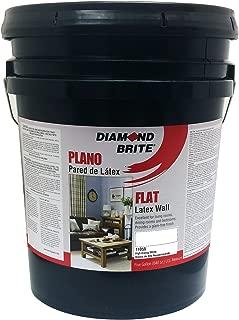 Diamond Brite Paint 11050 5-Gallon Flat Latex Paint High Hiding White