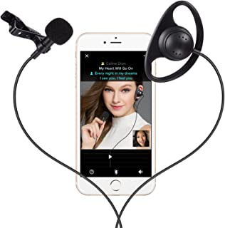 Music Recording Set, PChero Mini Portable Recording Condenser Microphone and Headset Kit for iPhone, iPad, iPod, Perfect for KTV Smule app Singing, YouTube Recording, WhatsApp Chatting