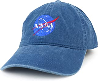 Armycrew NASA Insignia Embroidered 100% Cotton Washed Cap