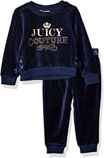 Juicy Couture Baby Girls 2 Pieces Velour Pants Set