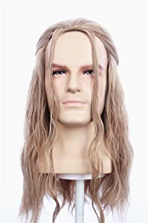 HangCosplay:Thor Wig Inspired of avengers age of Ultron Long Light Blonde Kinky Curly Cosplay Hair for Adults and Teens