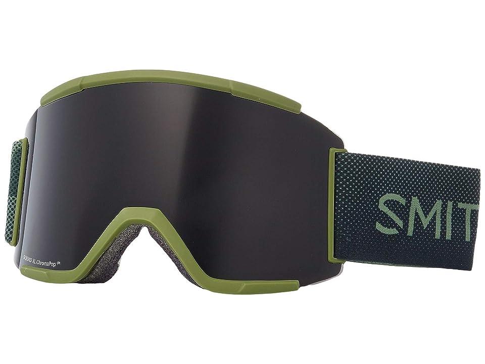 Smith Optics Squad XL Goggle (Moss Surplus/Chromapop Sun Black/Chromapop Storm Rose Flash) Snow Goggles