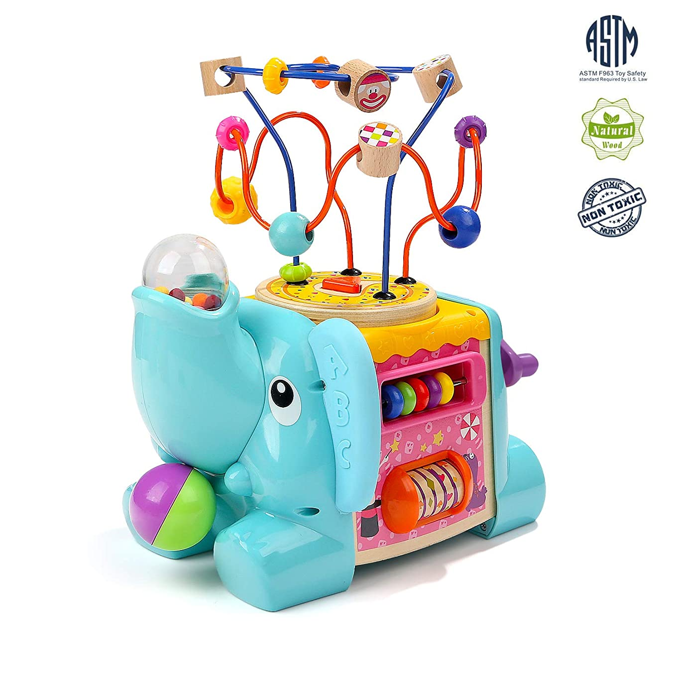 TOP BRIGHT Activity Cube Toys - Educational Baby Toys with Bead Maze for Toddlers 1 2 Year Old Boy and Girl Gifts