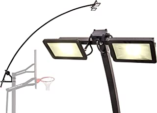 Goalrilla LED Basketball Hoop Light Illuminates backboard, Rim, and Court and Fits All Goalrilla and Other In-Ground Hoops (Renewed)