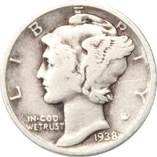 1938 silver dime