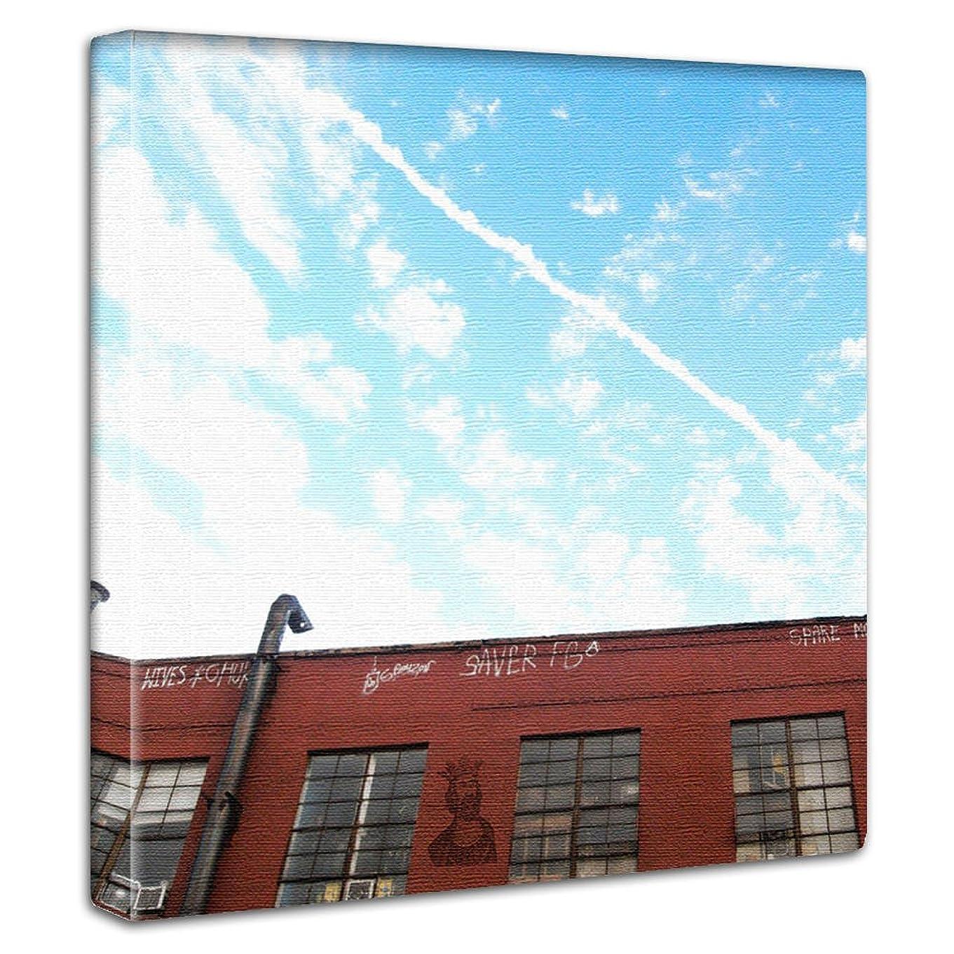 バンジョー軽量力アートデリ ポスター パネル 青空 30cm × 30cm edih 日本製 軽量 ファブリック edi-0018
