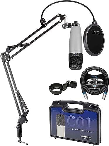 2021 Samson C01 Large-Diaphragm sale Condenser Microphone for Recording discount Vocals, Acoustic Instruments, Overhead Drums Bundle with Blucoil Boom Arm Plus Pop Filter, and 10-FT Balanced XLR Cable sale