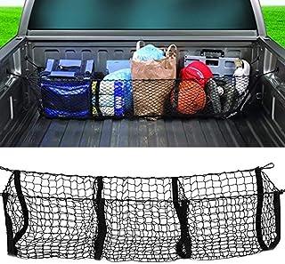 Hete-supply Filet de rangement pour coffre de voiture - Trois grilles - Tridimensionnelles - Sac de rangement pour coffre ...