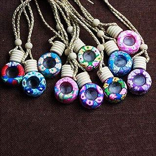 2Pcs Mini Tetera de botellas de vidrio vial de almacenamiento decorativo Encanto Colgante Joyería