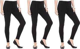 FashGlam Women Premium Ankle Length Leggings Combo of 3 - Black