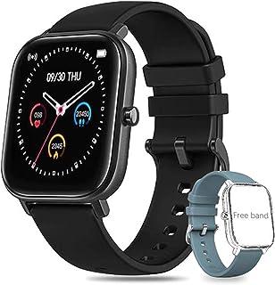 Salandens Smartwatch Pulsera Inteligente,reloj deportivo Impermeable IPX7 Pantalla completa táctil monitores de actividad ...